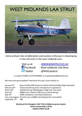West Midlands LAA Strut January 15th meeting